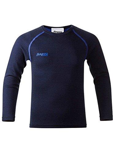 Bergans Akeleie Tech Tee LS Boys navy / warm cobalt / bleu Taille 92