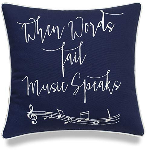 When Words Fail, Music Speaks Pillow Cover