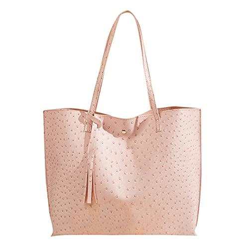 Bolso grande de la capacidad del bolso de compras de la bolsa de asas del bolso del bolso del color sólido de las mujeres