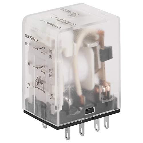 Mini relé de potencia intermedia, relé de estado sólido de 8 pin 5A relé electromagnético(12VDC)