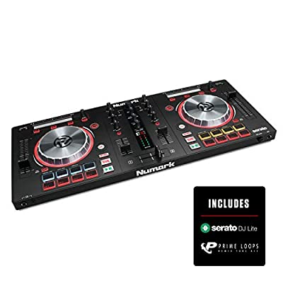 Numark Mixtrack Pro 3 | All In One 2 Deck DJ Controller for Serato DJ Including an On board Audio Interface, 5 inch High Resolution Jog Wheels and Serato DJ Intro & Prime Loops Remix Tool Kit by inMusic Brands Inc.
