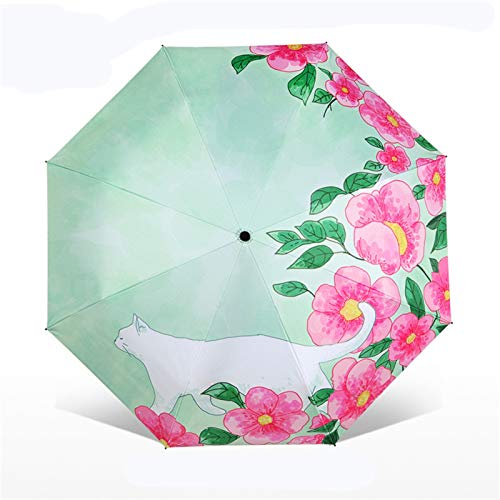 KDOAE Paraguas de Lluvia Viajes a Prueba de Viento del Paraguas Plegable de protección Solar al Aire Libre Ligero Lluvia Paraguas Ligero (Color : 4, Size : One Size)