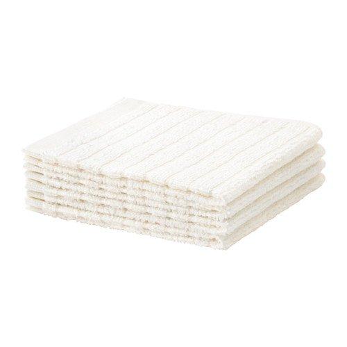 IKEA Vagsjon 103.509.98 - Paño de cocina (4 unidades, 12 x 12 cm), color blanco