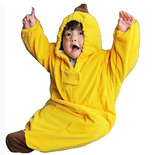 Baby Sleeping Bag Cute Cartoon Banana Sleeping Bag Warm Anti-Kick Sleepwear Unisex Baby Pajamas Sleep Sack for Kleinkinder 0-8 Monate (Small)
