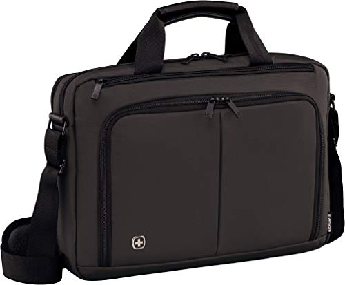 Wenger 601067 SOURCE 16' Laptop Briefcase , Padded laptop compartment with iPad/Tablet / eReader Pocket in Grey {10 Litres}