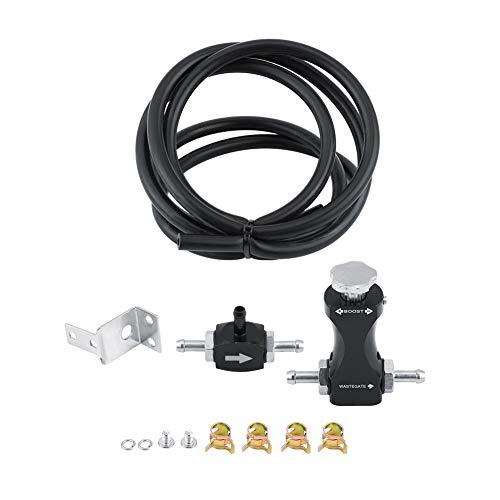 Qiilu Turbolader Zubehör Turbo Adjust Controller Manual Kit Boost Controller Kit Benzin Diesel Turbo Skyline Motorteile Universal für Auto12 Stücke