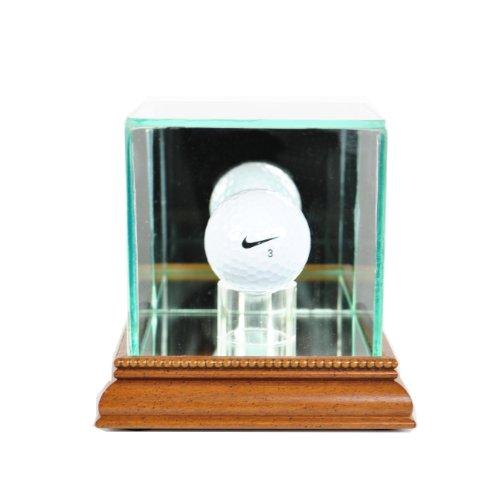 Perfect Cases PGA Golf Ball Glass Display Case, Walnut