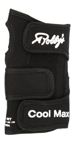 Robby 's Coolmax Original Rechts Handgelenkstütze Bowling Handschuh, Herren, Coolmax Original Right Wrist Support, schwarz