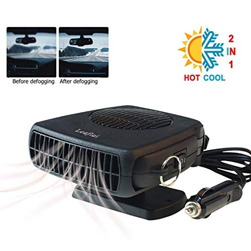 Car Heater, Portable Heater Anti-Fog 200W 12V Plug in Cigarette Lighter Defroster 2 in 1 Heating/Cooling Mini Car Defroster with Ergonomic Handle Windshield Defogger Defroster(2020 New)