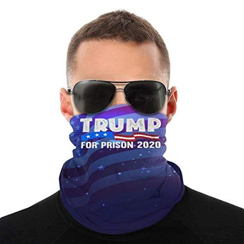 Nother Trump for Prison 2020 para bufanda anti Trump, protección contra el polvo, pasamontañas, bandana blanca