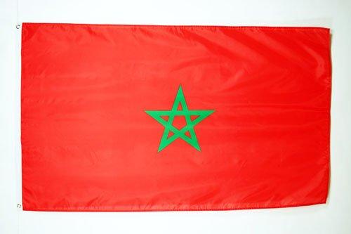 AZ FLAG Flagge MAROKKO 90x60cm - MAROKKANISCHE Fahne 60 x 90 cm - flaggen Top Qualität