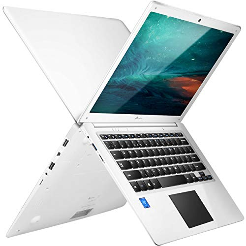 LincPlus P3 Laptop 14 inch Full HD Netbook Intel Celeron N3350 Processor 4GB RAM 64GB Storage Upgradable up to 512GB Windows 10 in S Mode Ultrabook with QWERTY UK Keyboard White