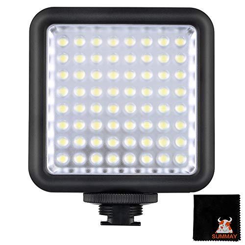 GODOX LED64 LED Camera Video Luce Flash Light per DSLR Camera Videocamera mini DVR 5500-6500K Controllo della Luminosità