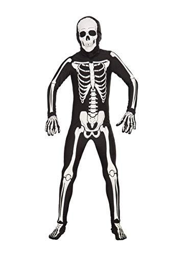 Forum Novelties I'm Invisible Costume Stretch Body Suit, Skeleton, Child Medium