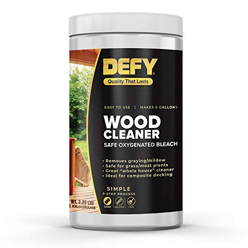 DEFY 2.25 LBs Wood Deck Cleaner - Safely Cleans Decks, Fences, Siding, & More - Covers Up to 1,000 Sq. Ft.