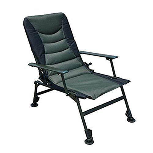 GenericBrands Silla útil, sillón reclinable portátil para Exteriores con reposabrazos, reposapiés para Personas Pesadas, Camping, Patio, Viajes, Pesca, Ajustable