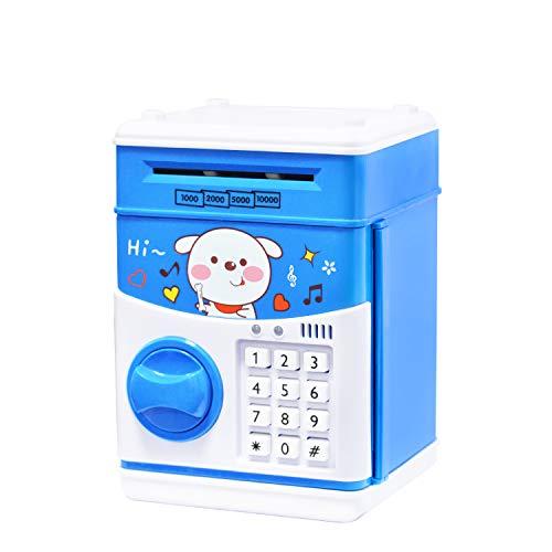 Electronic Piggy Bank, Piggy Bank for Boys, Money Bank for Adults with Password, ATM Piggy Bank for Real Money, Kids Piggy Banks Auto Scroll Piggy Banks, Fun Mini ATM Electronic Bank for Children
