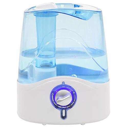 vidaXL Humidificador ultrasónico vapor frío luz nocturna 6 L 300 ml/h