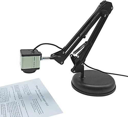 Kacsoo Cámara de documentos con enfoque automático, videoconferencia HD 2K 1080P USB 2.0 Escáneres de computadora de escritorio Visualizador de enseñanza en vivo remota Cámara con micrófono
