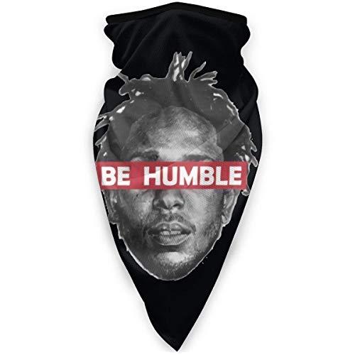 N/W Kendrick Lamar-Be Humble Gesichtsmaske Winddicht Sportmaske Multifunktionstuch Kopftuch Kopfbedeckung Schlauchmaske Outdoor Sturmhaube Schwarz Kopftuch