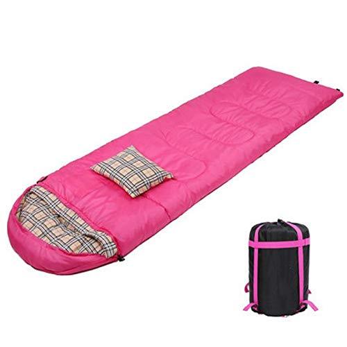 PrittUHU Camping Senderismo 4 Temporada Sombra de Dormir 210 * 75cm Saco de compresión Ligero portátil de 1.5 kg con Almohada para la Caza del Viaje de RV (Color : B)
