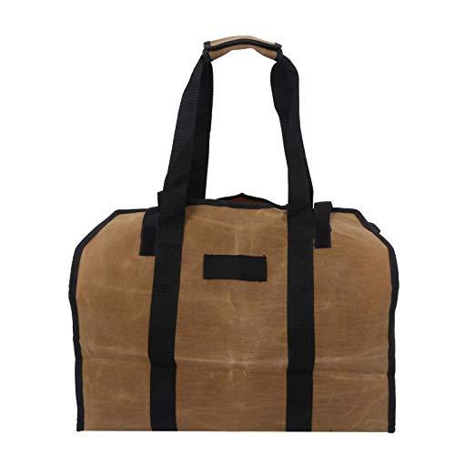 Clasken Bolsa para Troncos, Portador de leña, Soporte de Carga Duradero Resistente a los arañazos para Parrilla(Wet Wax mud Color)