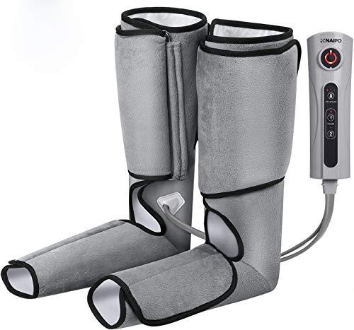 Naipo Masajeador de Pies y Piernas con Compresión de Aire 3 Niveles de Intensidad 2 Modos Controlador Para Piernas Estresadas Relajarse