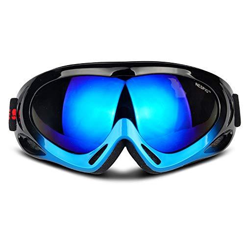 CHEYAL Sphärische Skibrille Outdoor Erwachsene Männer Und Frauen Kinder Schutzbrillen Windschutz Bergsteigen Reiten Skifahren Spiegel UV Schutz Objektiv Snowboard Gläser,Blue