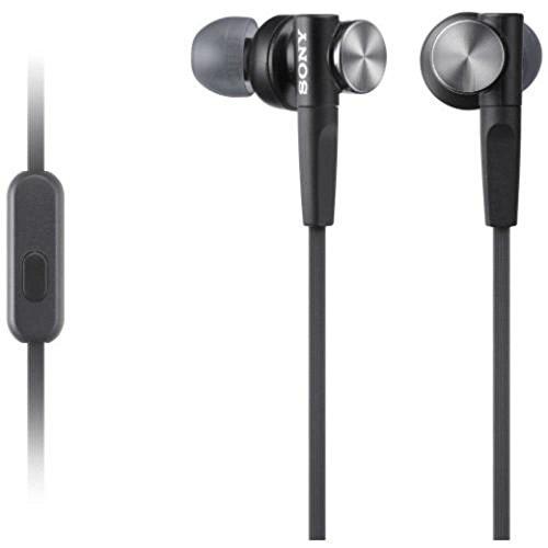 Sony Kopfhörer MDR-XB50APB In-Ohr-Headset-Kopfhörer (Extra Bass) schwarz