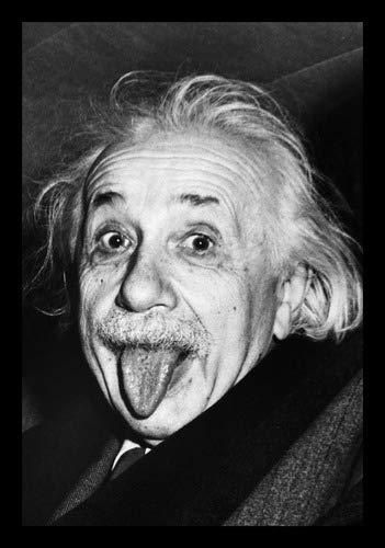 Quadro Decorativo Foto Cientista Albert Einstein 42x29cm