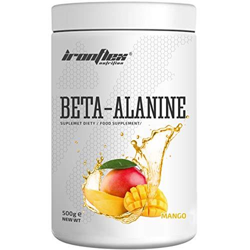 IronFlex Beta Alanine – 1 Pack – Muscle Strength and Endurance – Fatigue – Amino Acid (Mango, 500g)