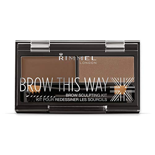 Rimmel London Brow This Way Kit Sopracciglia, Sopracciglia Perfette in 3 Step, Medium Brown, 2.4 g