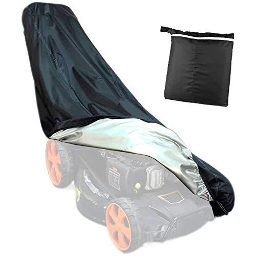 SIVENKE Cubierta protectora para cortacésped de fibra de poliéster 210D, impermeable, cubierta protectora para tractor cortacésped, protección contra el polvo, protección contra la intemperie, negro