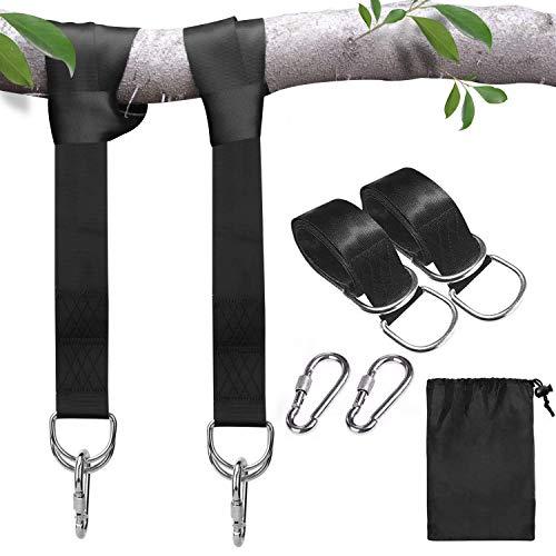 Fesoar Schaukel Befestigung, Hängematte Befestigung Befestigungsset Aufhängung Hängesessel Befestigung Max 500kgs aus Reißfestem Polyester mit 2 Premium Karabinern (1.5M)