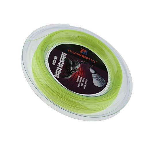 T TOOYFUL Nylon Tennissaite Seil für Tennisschläger Badminton Saiten 200 Meter - Gelb
