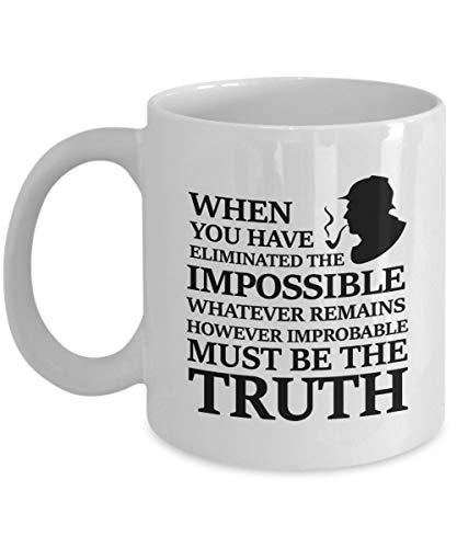 N\A aza de café Sherlock Holmes, Blanca