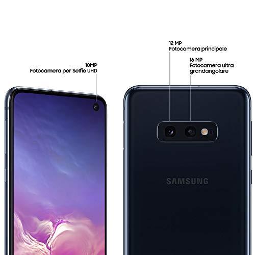 Samsung Galaxy S10e 128 GB Dual SIM, 128 GB interner Speicher, 6 GB RAM, prism black, [Standard] Spanische Version