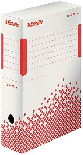 Esselte Speedbox 1 lot de 25 Boites Archives dos,100 mm Blanc,623908