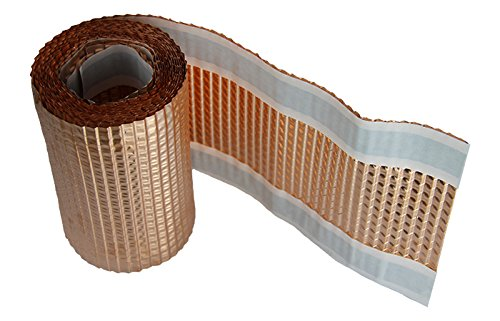 Premio Kupferband | 5m | Breite: 200mm | strukturierte Kupferrolle | Kupfer Moosband Anti Moos Dachschutz Moosstop Dachentmoosung Dachreinigung | selbstklebend | Made in Germany | 5 Meter
