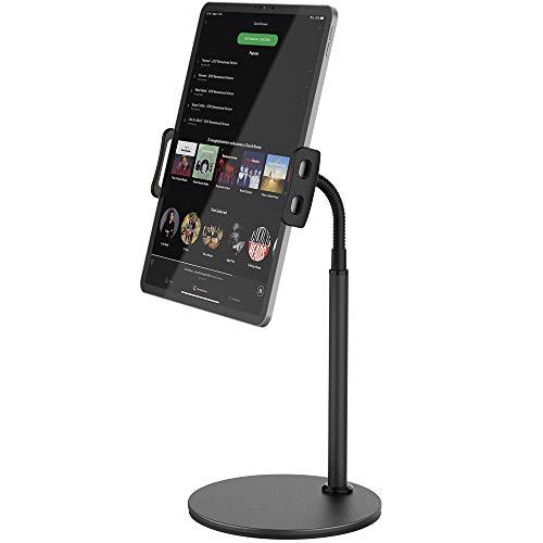 TATE GUARD Tablet-Ständer Halterung mit flexiblem Schwanenhalsförmigem Arm,Multi-Winkel verstellbar 360-Grad-Drehung Montieren Tablet-Ständer Halterung für Tablets bis zu 12.9 Zoll und Smartphones