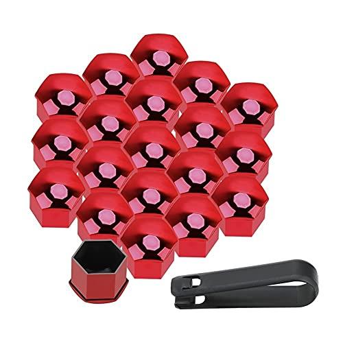 LinYom 20 Unids Coche Tuerca Tuerca Tapas Perno Remo 21mm Auto Hub Tornillo Tornillo Tapas Protección Tapas Prueba De Polvo Decoración Exterior Anti-Rust Rust (Color Name : Red)