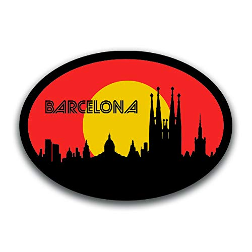 Barcelona Spain Skyline Vinyl Decal Sticker | Cars Trucks Vans SUVs Windows Walls Cups Laptops | Full Color Printed | 5.5 Inch | KCD2580
