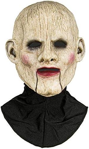 Horror-Shop Halbmaske Einer Bauchrotner Puppe aus Silikon