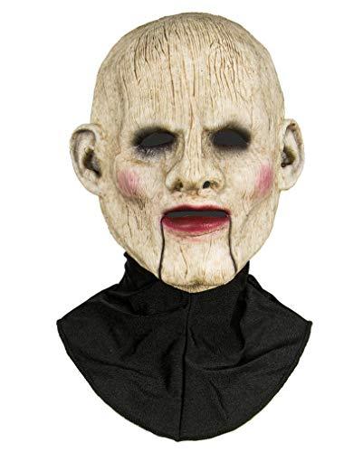 Horror-Shop Halbmaske Einer Bauchredner Puppe aus Silikon
