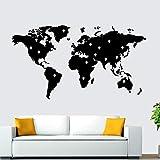 Ofomox Weltkarte Familiendekoration modernes Zimmer Kinderzimmerausstattung Kindergarten Wohnzimmer Schlafzimmerdekoration Wandaufkleber wallpaper56X101CM
