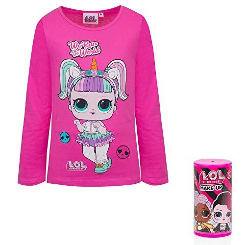 Modi_shop LOL Surprise Langarmshirt mit Make-Up-Packung inklusive, Pink 3 Jahre