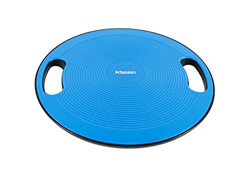 KINGBOS バランスボード 体幹トレーニング 滑り止め 360度回転 直径40cm 運動 健康 リハビリ ケガ予防 (ブルー)