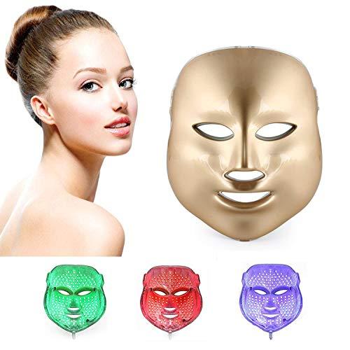ZRYstore 7 couleur LED masque photon lumière peau rajeunissement blanchissant soin facial beauté quotidien masque