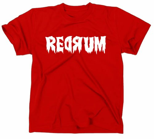 REDRUM The Shining T-Shirt Fanshirt Kultfilm, rot, XL