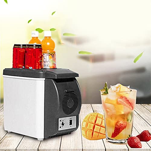 YUXIwang Refrigerador 12 V 6 L mini coche refrigerador de doble uso bebidas más fresco calentador ABS portátil viaje al aire libre congelador universal refrigerador